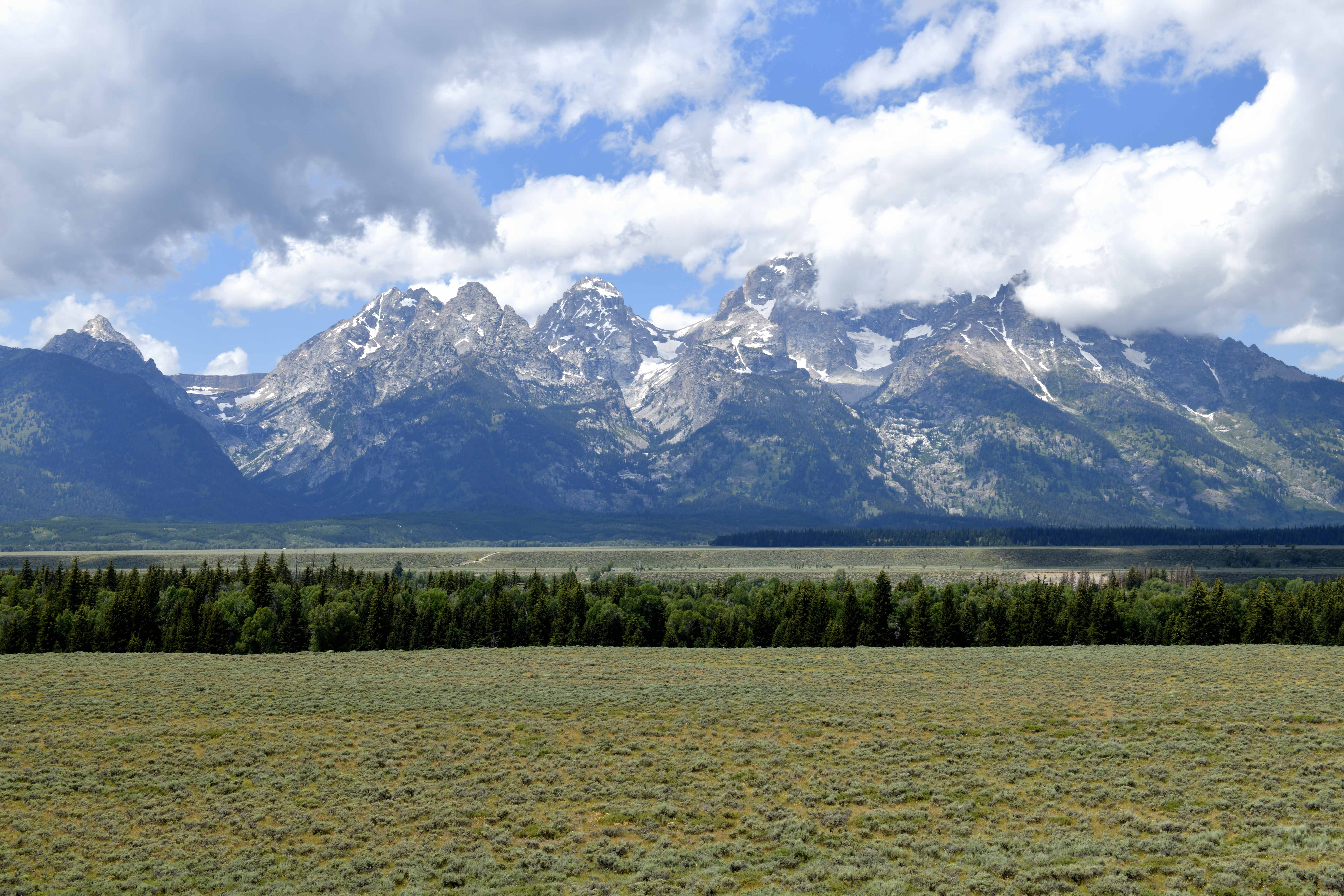 Driving Rt. 93 and 26 to Jackson, Wyoming and Through Grand Teton National Park