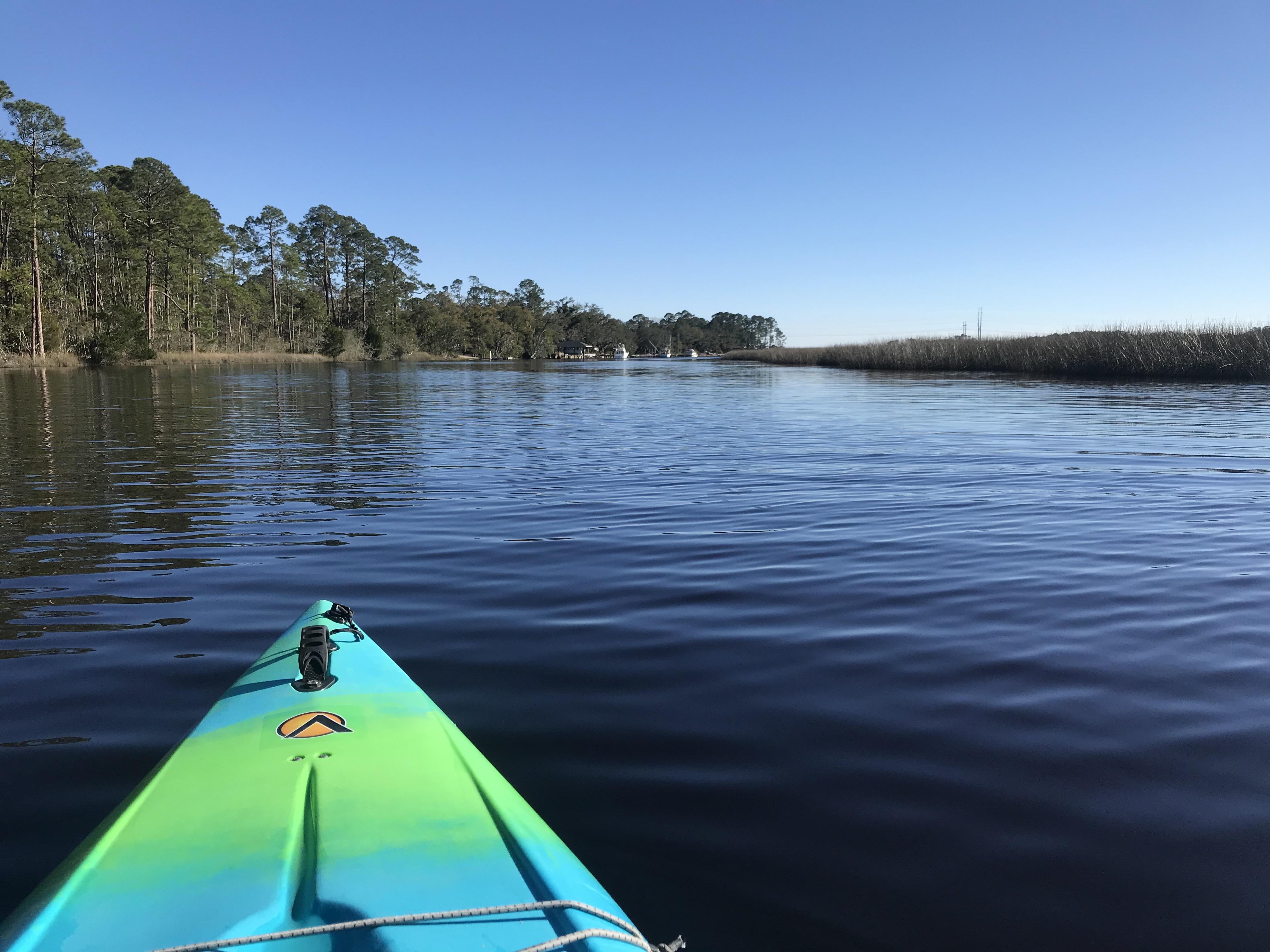 Kayaking Burt Mill Creek